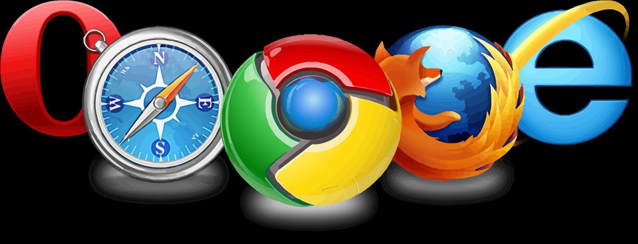 Internet Explorer, Opera, Google Chrome, Firefox and Safari.