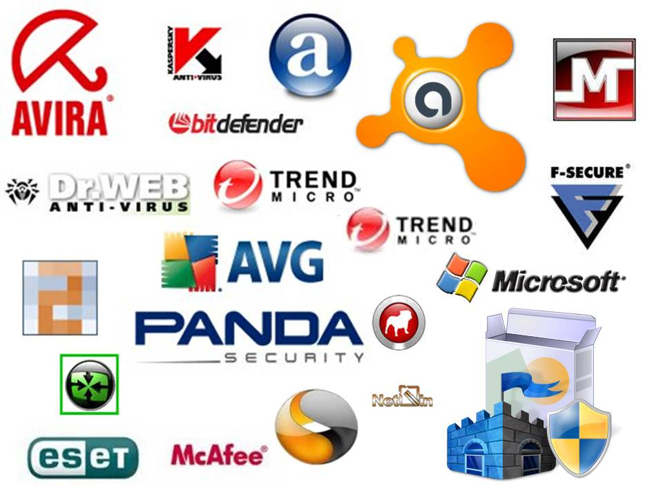 Various Anti-virus company logos